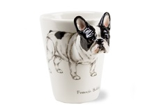 Picture of French Bulldog Handmade 8oz Coffee Mug White And Black