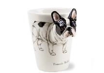 Picture of French Bulldog Handmade 8oz Coffee Mug White and Black