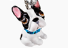 Picture of French Bulldog Handmade Mini Key Ring White And Black