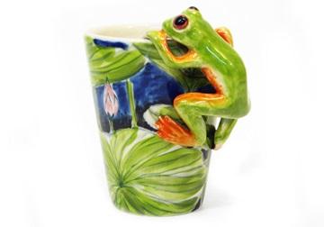 Picture of Frog Handmade 8oz Coffee Mug Green
