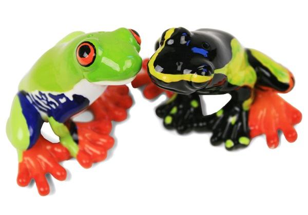 Picture of Frog Handmade Mini Cruet Set Green
