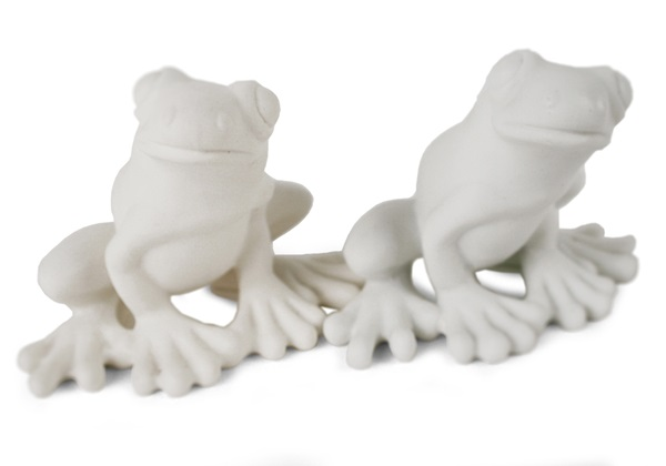 Picture of Frog Handmade Unpainted Ceramics Mini Unpainted Cruet Set Unglazed