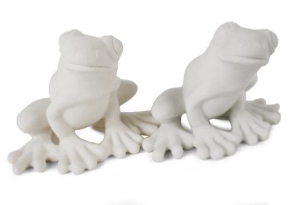 Picture of Frog Handmade Unpainted Ceramics Mini Unpainted Cruet Set Unglazed