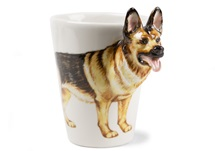 Picture of German Shepherd Handmade 8oz Coffee Mug Tan and Black