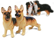 Picture of German Shepherd Handmade Mini Cruet Set Tan and Black