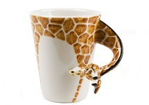 Picture of Giraffe Handmade 8oz Coffee Mug Orange