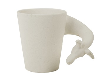 Picture of Giraffe Handmade Ceramic 8oz Coffee Mug Unpainted