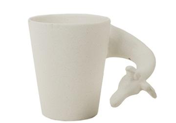 Picture of Giraffe Handmade Ceramic 8oz Coffee Mug Unpainted