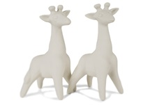 Picture of Giraffe Handmade Unpainted Ceramics Mini Unpainted Cruet Set Unglazed