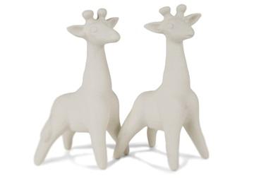Picture of Giraffe Handmade Unpainted Ceramics Mini Unpainted Cruet Set Unglazed