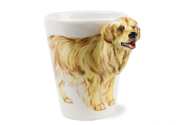 Picture of Golden Retriever Handmade 8oz Coffee Mug Gold