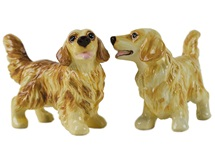 Picture of Golden Retriever Handmade Mini Cruet Set Gold
