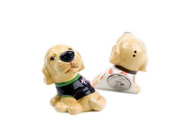Picture of Golden Retriever Handmade Mini Fridge Magnet Gold