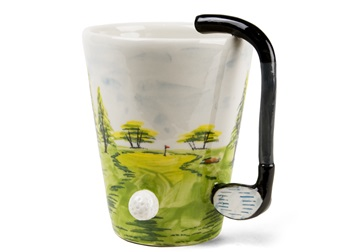 Picture of Golf Handmade 8oz Coffee Mug White