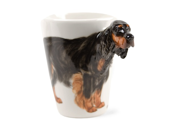 Picture of Gordon Setter Handmade 8oz Coffee Mug Black And Tan