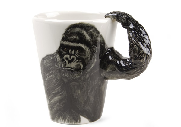 Picture of Gorilla Handmade 8oz Coffee Mug Black