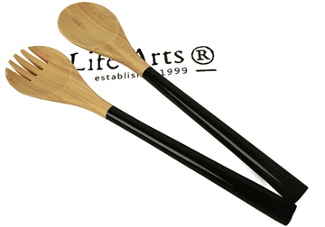 Picture of Granny Sweet Bamboo Two Piece Salad Tongs Black Ash