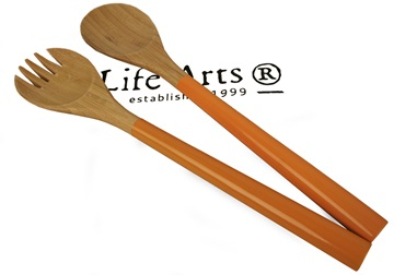 Picture of Granny Sweet Bamboo Two Piece Salad Tongs Orange
