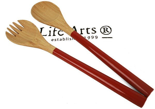 Picture of Granny Sweet Bamboo Two Piece Salad Tongs Scarlet