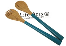 Picture of Granny Sweet Bamboo Two Piece Salad Tongs Sky Blue