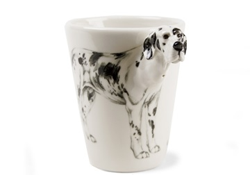Picture of Great Dane Handmade 8oz Coffee Mug Harlequin