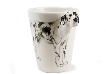 Picture of Great Dane Handmade 8oz Coffee Mug Harlequin