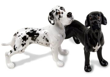Picture of Great Dane Handmade Mini Cruet Set Harlequin and Black