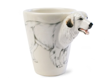 Picture of Great Pyrenees Handmade 8oz Coffee Mug White