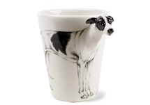 Picture of Greyhound Handmade 8oz Coffee Mug Black And White