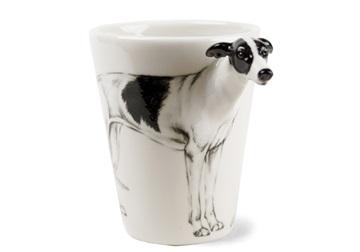 Picture of Greyhound Handmade 8oz Coffee Mug Black and White