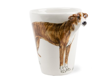 Picture of Greyhound Handmade 8oz Coffee Mug Brindle