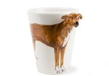 Picture of Greyhound Handmade 8oz Coffee Mug Fawn