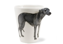 Picture of Greyhound Handmade 8oz Coffee Mug Grey