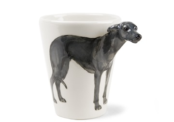 Picture of Greyhound Handmade 8oz Coffee Mug Grey
