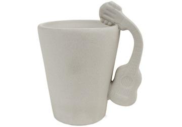 Picture of Guitar Handmade Ceramic 8oz Coffee Mug Acoustic Unpainted