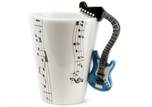Picture of Guitar Handmade 8oz Coffee Mug Blue