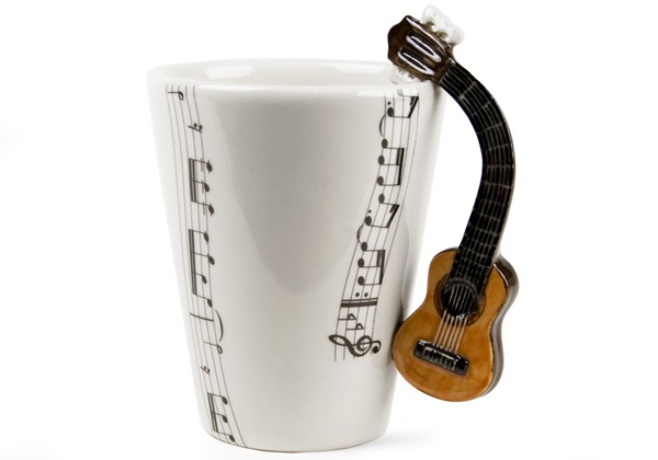 Picture of Guitar Handmade 8oz Coffee Mug Acoustic