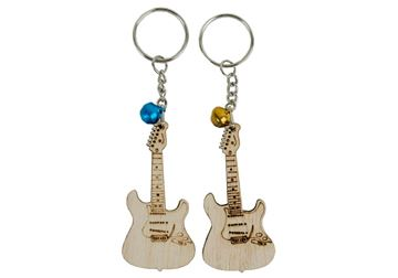 Picture of Guitar Small Set of 2 Beige Handmade Key Ring