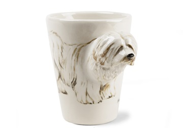 Picture of Havanese Handmade 8oz Coffee Mug Cream