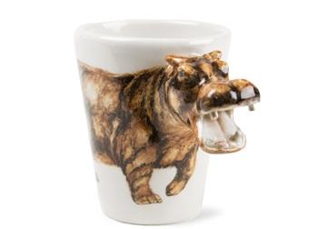 Picture of Hippo Handmade 8oz Coffee Mug Brown