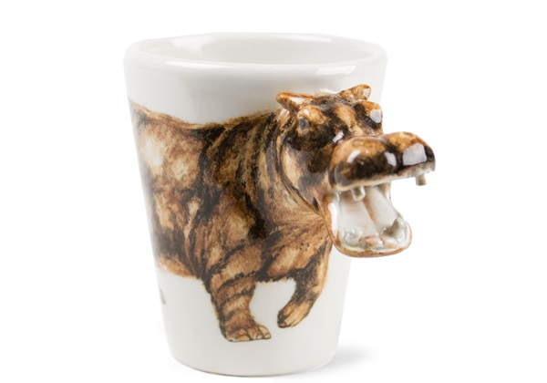 Picture of Hippo Handmade 8oz Coffee Mug Brown