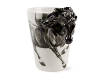 Picture of Horse Handmade 8oz Coffee Mug Black