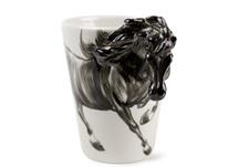 Picture of Horse Handmade 8oz Coffee Mug Black
