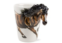 Picture of Horse Handmade 8oz Coffee Mug Chestnut