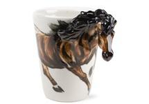 Picture of Horse Handmade 8oz Coffee Mug Chestnut