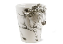 Picture of Horse Handmade 8oz Coffee Mug White