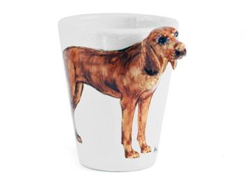 Picture of Hungarian Viszla Handmade 8oz Coffee Mug Red Golden