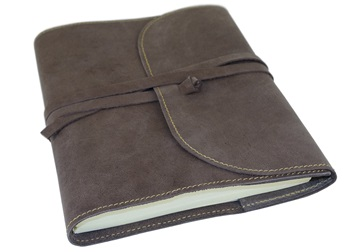Picture of Indiana Handmade Leather Wrap A5 Refillable Journal Savannah Plain
