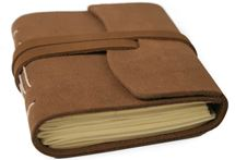 Picture of Indra Mini Suede Handmade Leather Wrap Journal