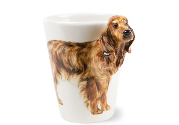 Picture of Irish Setter Handmade 8oz Coffee Mug Red